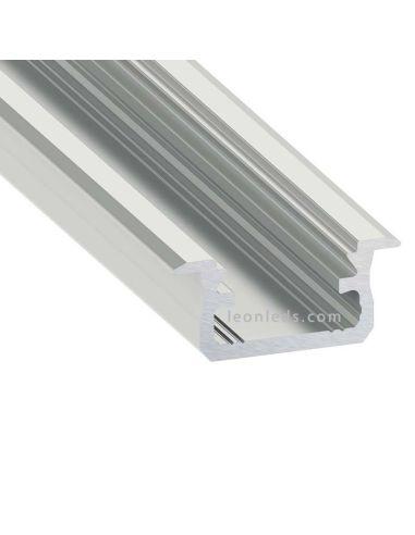 Perfil Empotrable de Aluminio -Tipo B- 2M | LeonLeds