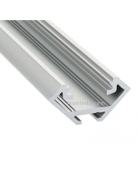 Perfil Aluminio Angular -Tipo C- 2M   LeónLeds