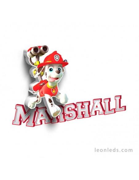 Aplique 3D led Infantil de Marshall La Patrulla Canina | LeonLeds