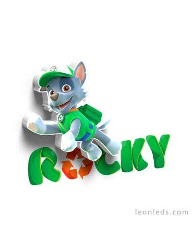 Aplique mini de pared 3D led Infantil de Rocky La Patrulla Canina | LeonLeds