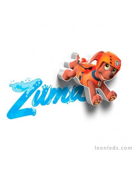 Aplique mini de pared 3D led Infantil de Zuma La Patrulla Canina | LeonLeds