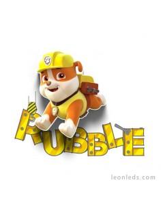 Aplique mini de pared 3D led Infantil de Rubble La Patrulla Canina | LeonLeds
