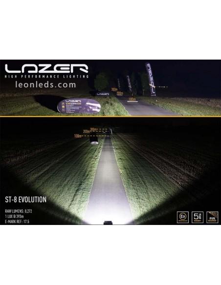 Barra de LED Lazer Lamps ST8 Evolution Homologada para Vehículos 4X4 y Camiones 95 Watios de potencia Negra | LeonLeds