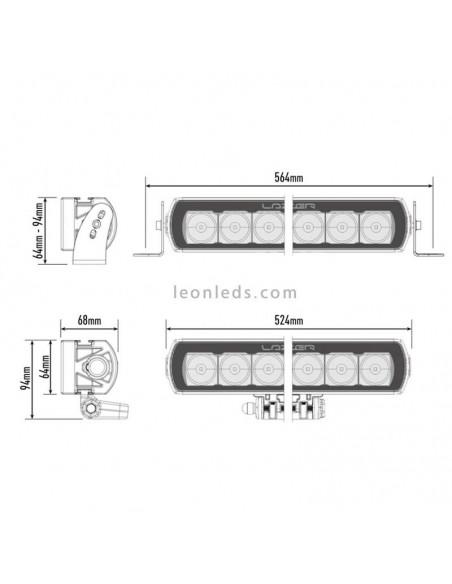 Barra de LED Lazer Lamps ST12 Evolution Homologada para Vehículos 4X4 y Camiones 144 Watios de potencia Negra | LeonLeds