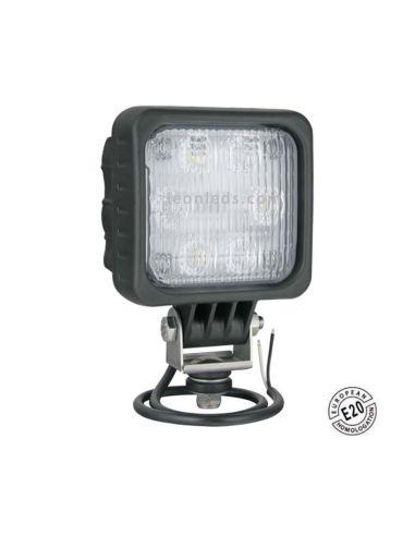 Faro para iluminar la marcha atras de LED Homologado de la marca Wesem 12V y 24V para camiones y remolques   LeonLeds