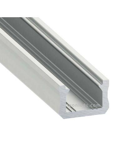 Perfil Aluminio Superficie para tiras Led decorativas -Tipo X- 2M | LeonLeds