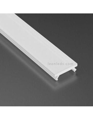 Difusor Opal 2,02m Basic Milky Para Perfil Tipo X | LeonLeds