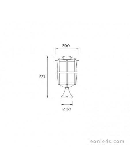 Sobremuro - Baliza Exterior Serie Rustica IP65 de Leds 4C | LeonLeds