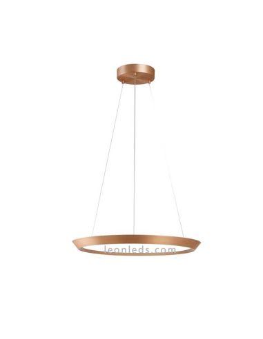 Lámpara de Techo LED Bronce mate redonda 40W LEDS C4 Benedito Desing modelo Saturn 40W | LeonLeds