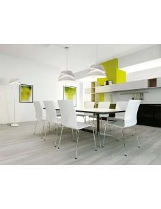 Lámpara Colgante Mediana serie Alboran blanca metalica regulable en altura diseño moderno efecto led de mantra 5861 | LeonLeds