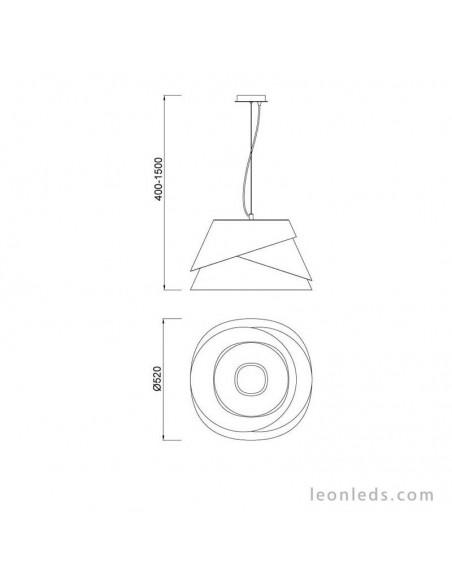 Lámpara Colgante serie Alboran blanca metalica regulable en altura diseño moderno efecto led de mantra 5860 | LeonLeds