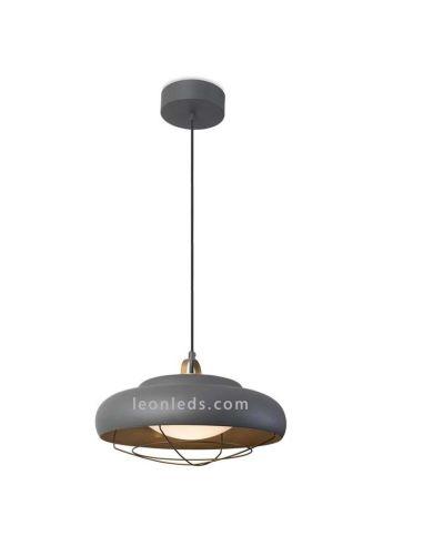 Lámpara de Techo LED Colgante serie Sugar 26,6W Gris Urbano mate dorado negro diseño industrial retro | LeonLeds