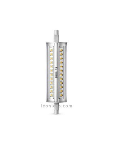 Lámpara Halógena Lineal LED R7S 14W Luz Cálida o Luz Natural 100W Philips Corepro Dimmable   LeonLeds