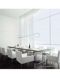 Lámpara de Techo LED con una potencia de 42W 3000K Luz Cálida de la serie Bucle 5870 color plata cromo de diseño vanguardista |