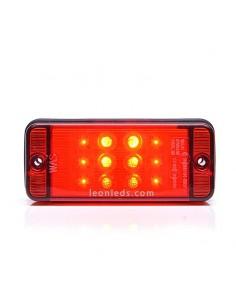 Tercera Luz de Freno Roja Led Rectangular 12V/24V homologada | LeonLeds