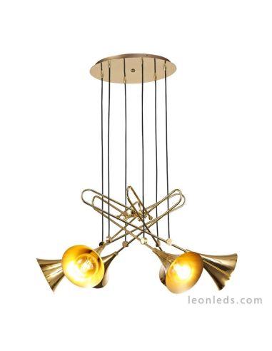 Lámpara de techo Vintage colgante Jazz 6L Oro estilo Vintage Única  LeonLeds.com