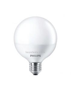 Bombilla LED Philips G120 Globo 18w 2700K luz cálida blanco mate equivalente a 100w | LeonLeds Iluminación