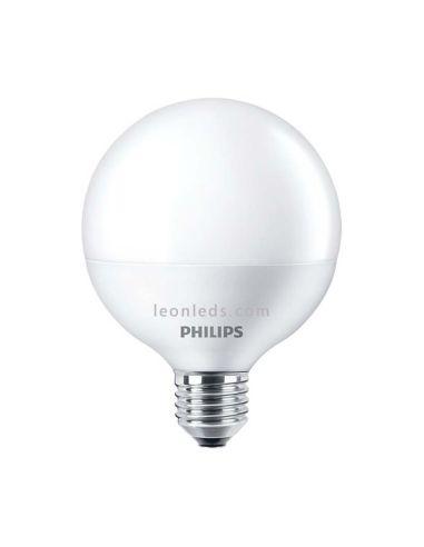 Bombilla LED Philips G120 Globo 18w 2700K luz cálida blanco mate equivalente a 100w   LeonLeds Iluminación