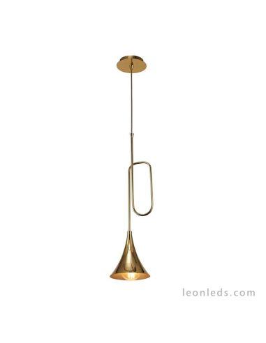 Lámpara de techo colgante Jazz 1L Oro estilo Vintage 5899 de Mantra | Leonleds