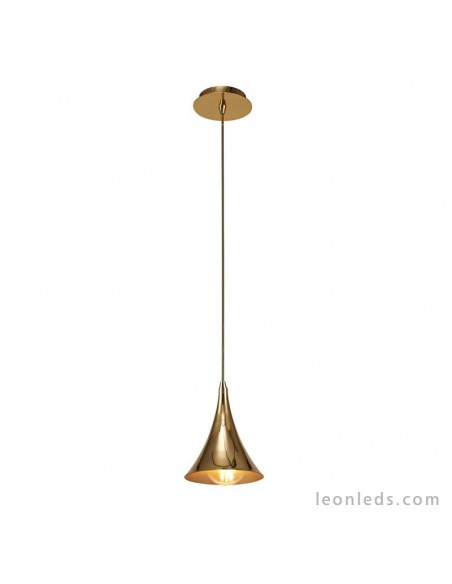 Lámpara de techo colgante vintage simple Jazz 1L Oro 5908 de Mantra | LeonLeds