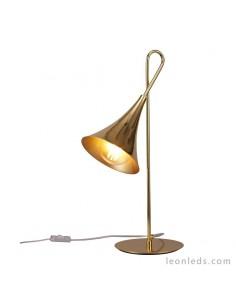 Lámpara de Sobremesa Jazz 1L Oro estilo vintage  mantra 5909 | LeonLeds