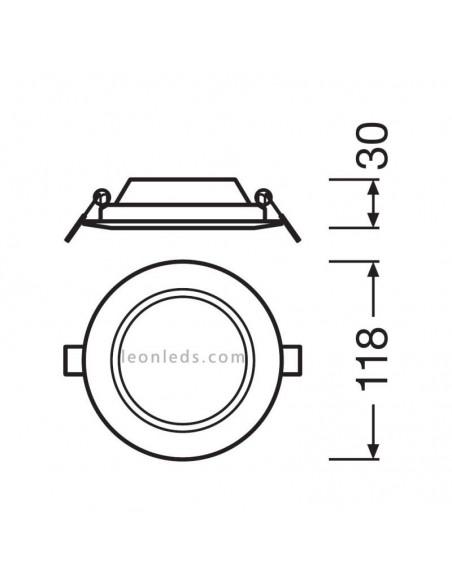 Downlight LED Osram LedVance Redondo blanco mate para empotrar 6W DN105 3000K WT Luz Calida  | LeonLeds