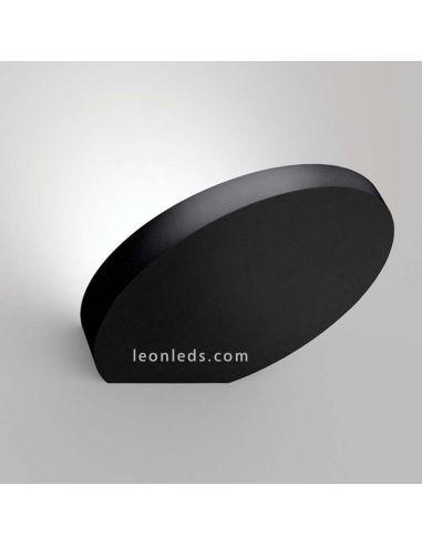 Aplique de Pared Led Flap Negro 20W ArkosLight para pasillos y salas de estar | LeonLeds