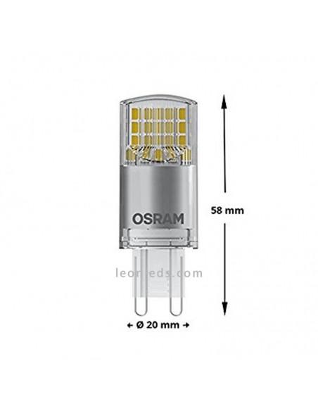 Bombilla LED G9 3.8W Osram LedVance equivalente a 40W luz natural 4000K | LeonLeds