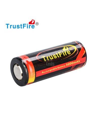 Batería Litio 26650 5.000 mAh TrustFire Flame Li-Ion | LeonLeds