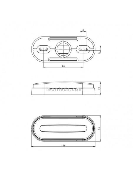 Piloto Lateral e Intermitente LED FT- 071 de Fristom con Cable Ambar | LeonLeds