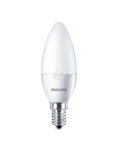 Bombilla LED Vela E14 Philips 7W Corepro La Bombilla de Vela mas potente del mercado | LeonLeds Iluminación