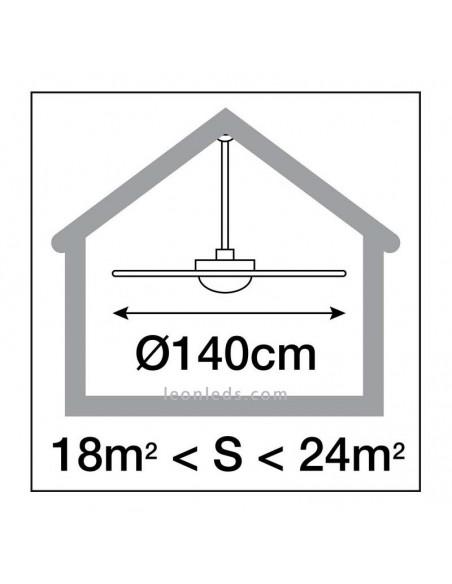Ventilador de Techo Fujil Ø140 CM Blanco Sin Luz 638B-VX82B-01 Exo Lighting | LeonLeds
